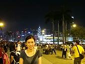 2009.10.01 香港四天三夜自由行 1Day:和夜景合照一下