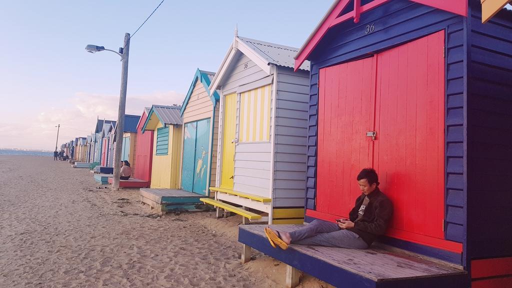 20190213_195132.jpg - 【澳洲.墨爾本】2019免費景點。Brighton Beach Bath Boxes 海邊彩色小屋