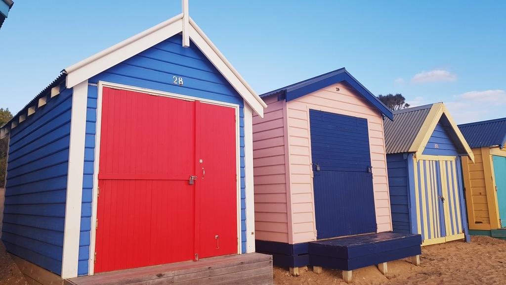 20190213_192154.jpg - 【澳洲.墨爾本】2019免費景點。Brighton Beach Bath Boxes 海邊彩色小屋