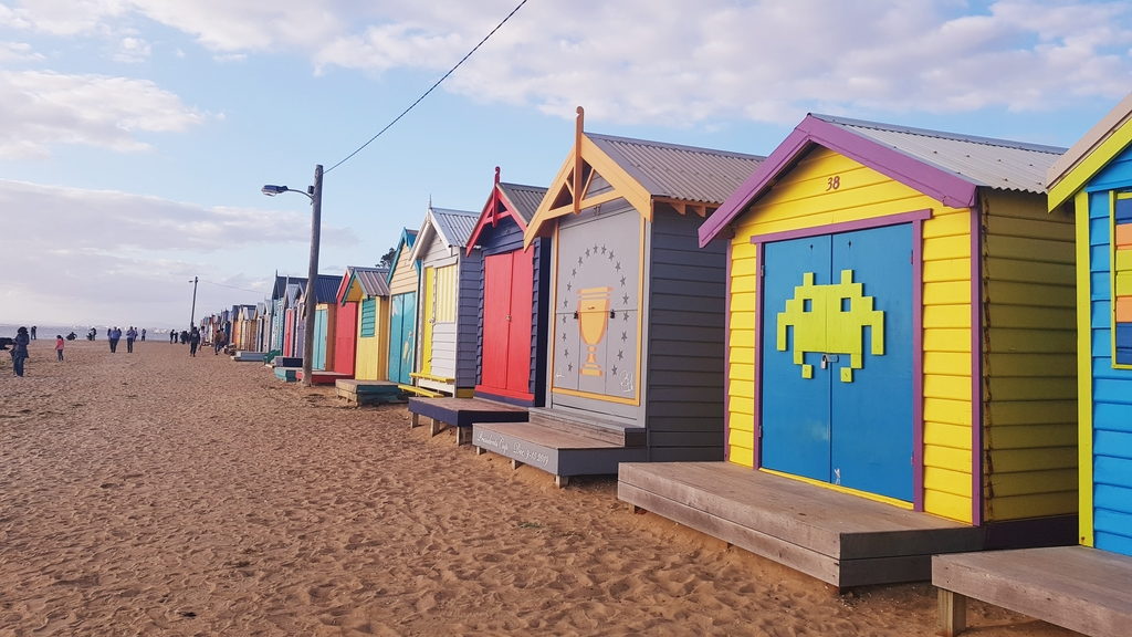 20190213_192304.jpg - 【澳洲.墨爾本】2019免費景點。Brighton Beach Bath Boxes 海邊彩色小屋