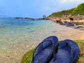 【台北】北海岸石門洞景點。美麗的貝殼砂海灘。熱門觀看夕陽&潮間帶景點:IMG_9635.JPG