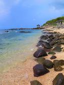 【台北】北海岸石門洞景點。美麗的貝殼砂海灘。熱門觀看夕陽&潮間帶景點:IMG_9642.JPG