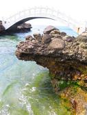 【台北】北海岸石門洞景點。美麗的貝殼砂海灘。熱門觀看夕陽&潮間帶景點:IMG_9719.JPG