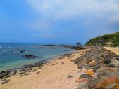 【台北】北海岸石門洞景點。美麗的貝殼砂海灘。熱門觀看夕陽&潮間帶景點:IMG_9586.JPG