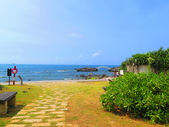 【台北】北海岸石門洞景點。美麗的貝殼砂海灘。熱門觀看夕陽&潮間帶景點:IMG_9745.JPG