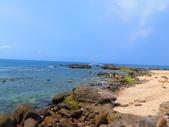 【台北】北海岸石門洞景點。美麗的貝殼砂海灘。熱門觀看夕陽&潮間帶景點:IMG_9676.JPG
