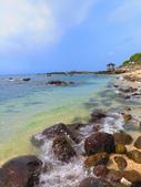 【台北】北海岸石門洞景點。美麗的貝殼砂海灘。熱門觀看夕陽&潮間帶景點:IMG_9647.JPG