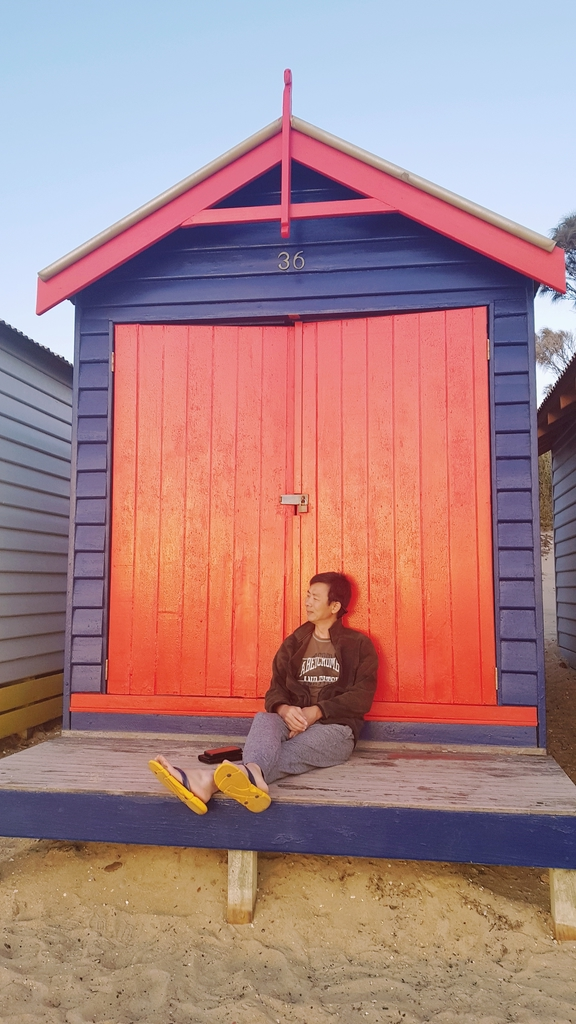 20190213_195125.jpg - 【澳洲.墨爾本】2019免費景點。Brighton Beach Bath Boxes 海邊彩色小屋