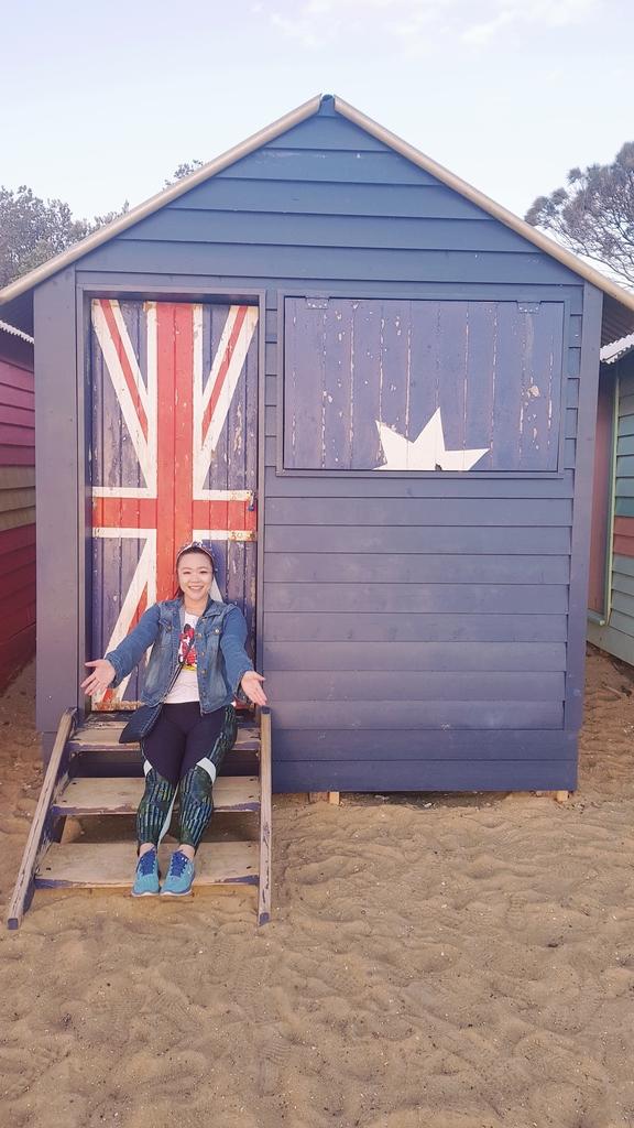 20190213_195423.jpg - 【澳洲.墨爾本】2019免費景點。Brighton Beach Bath Boxes 海邊彩色小屋