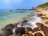 【台北】北海岸石門洞景點。美麗的貝殼砂海灘。熱門觀看夕陽&潮間帶景點:IMG_9653.JPG
