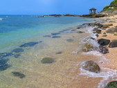 【台北】北海岸石門洞景點。美麗的貝殼砂海灘。熱門觀看夕陽&潮間帶景點:IMG_9661.JPG