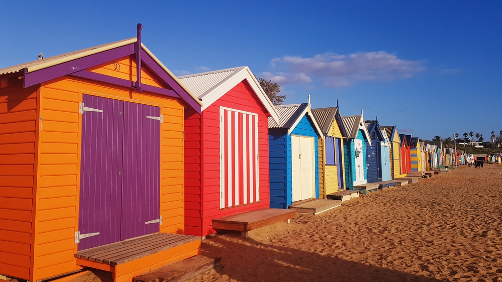 20190213_191916.jpg - 【澳洲.墨爾本】2019免費景點。Brighton Beach Bath Boxes 海邊彩色小屋