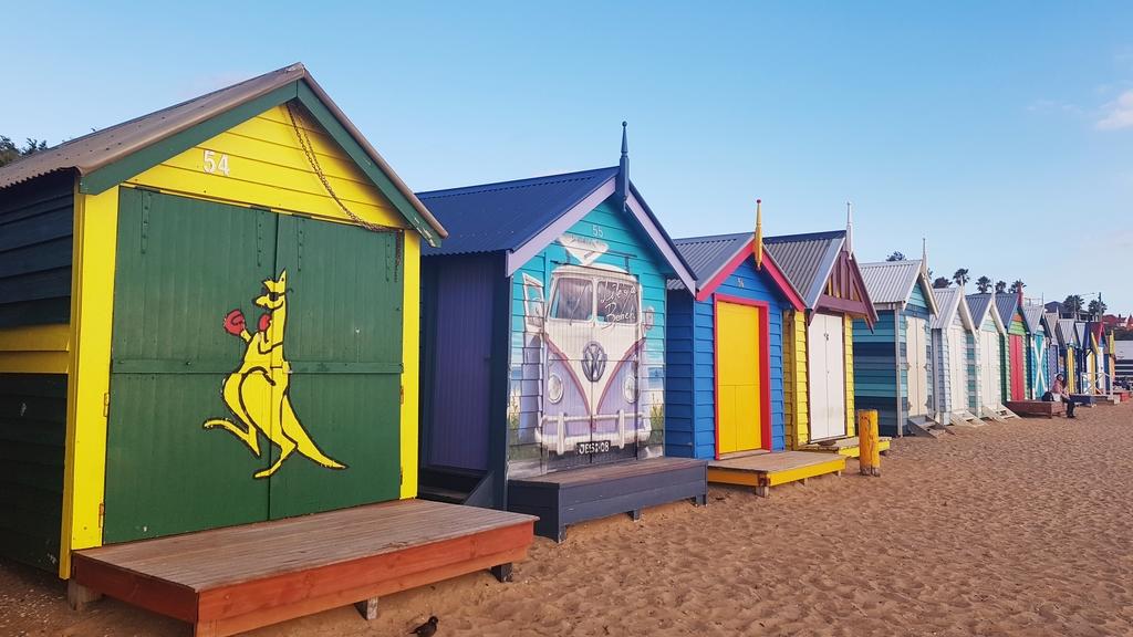 20190213_192428.jpg - 【澳洲.墨爾本】2019免費景點。Brighton Beach Bath Boxes 海邊彩色小屋