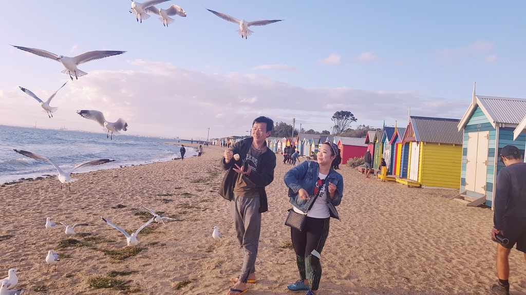 20190213_194237.jpg - 【澳洲.墨爾本】2019免費景點。Brighton Beach Bath Boxes 海邊彩色小屋