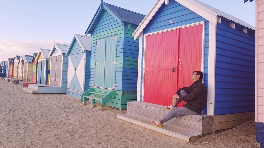 20190213_195159.jpg - 【澳洲.墨爾本】2019免費景點。Brighton Beach Bath Boxes 海邊彩色小屋