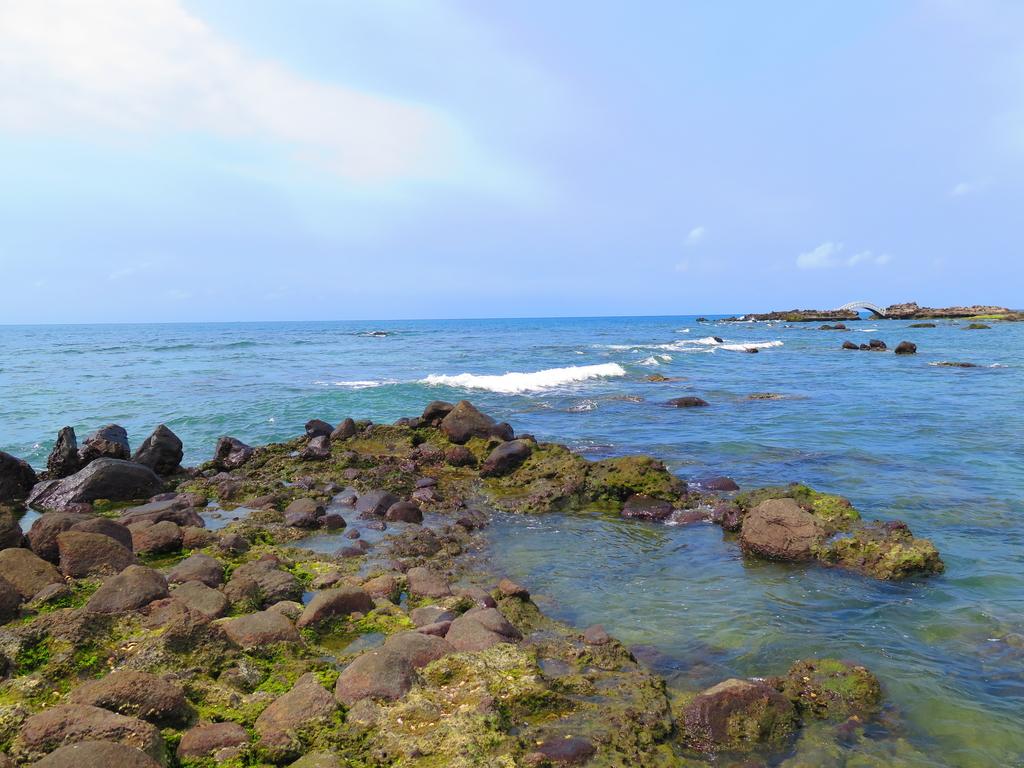 【台北】北海岸石門洞景點。美麗的貝殼砂海灘。熱門觀看夕陽&潮間帶景點:IMG_9619.JPG