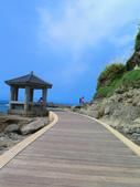 【台北】北海岸石門洞景點。美麗的貝殼砂海灘。熱門觀看夕陽&潮間帶景點:IMG_9671.JPG