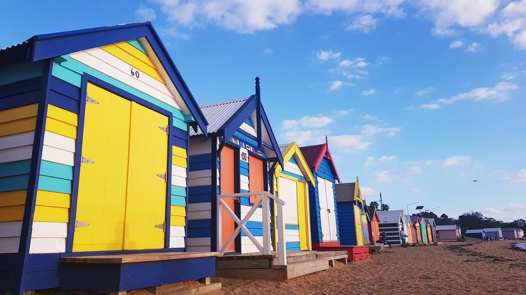 20190213_192801.jpg - 【澳洲.墨爾本】2019免費景點。Brighton Beach Bath Boxes 海邊彩色小屋