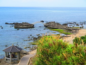 【台北】北海岸石門洞景點。美麗的貝殼砂海灘。熱門觀看夕陽&潮間帶景點:IMG_9537.JPG