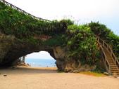 【台北】北海岸石門洞景點。美麗的貝殼砂海灘。熱門觀看夕陽&潮間帶景點:IMG_9505.JPG