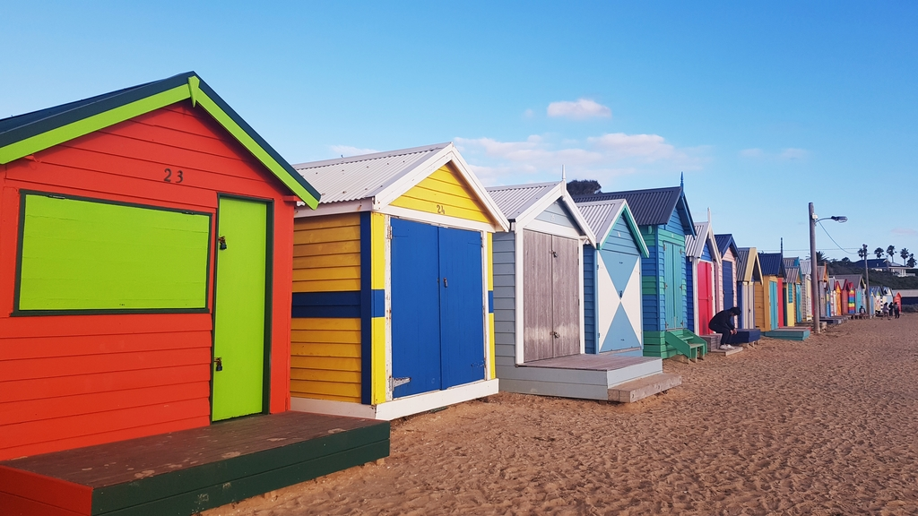 20190213_192124.jpg - 【澳洲.墨爾本】2019免費景點。Brighton Beach Bath Boxes 海邊彩色小屋