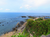 【台北】北海岸石門洞景點。美麗的貝殼砂海灘。熱門觀看夕陽&潮間帶景點:IMG_9530.JPG