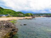 【台北】北海岸石門洞景點。美麗的貝殼砂海灘。熱門觀看夕陽&潮間帶景點:IMG_9728.JPG