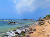 【台北】北海岸石門洞景點。美麗的貝殼砂海灘。熱門觀看夕陽&潮間帶景點:IMG_9657.JPG