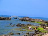 【台北】北海岸石門洞景點。美麗的貝殼砂海灘。熱門觀看夕陽&潮間帶景點:IMG_9684.JPG