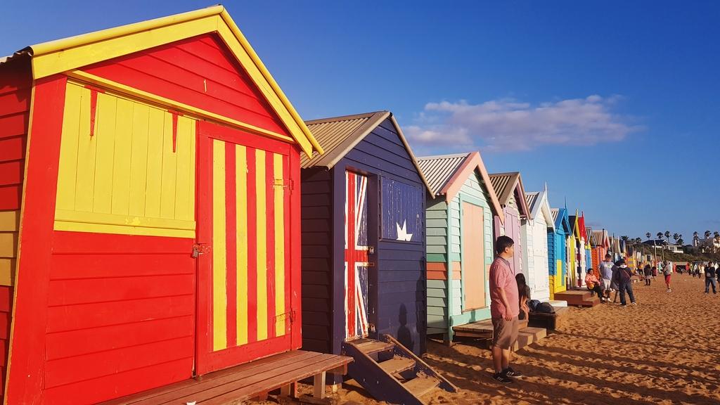 20190213_191806.jpg - 【澳洲.墨爾本】2019免費景點。Brighton Beach Bath Boxes 海邊彩色小屋