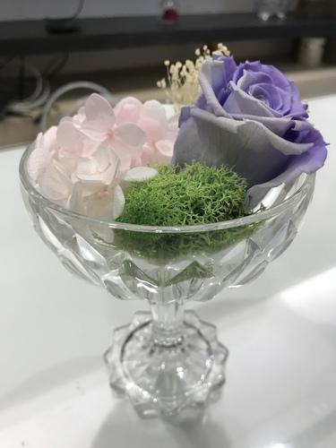 漸層紫玫瑰700.JPG - 永生花玫瑰禮盒