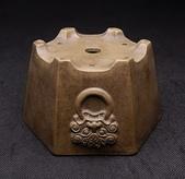 【盆缽收藏】精品 浮雕獅頭 六方盆【 定制款 】:獅18.jpg