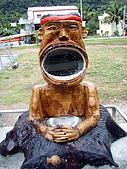 070317都飛魯溫泉:清晨在大嘴鏡前-梳洗一番-別忘了旋轉陶罐鈕(給水)