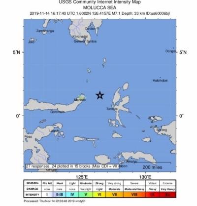 「印尼7.1強震」當局發布海嘯警報,居民驚惶逃往高地