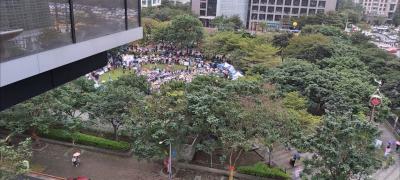 「挺川普遊行」一張台北空拍圖,網友嘆:愚蠢至極
