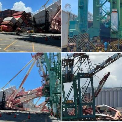 「高雄港意外」貨輪撞毀橋式起重機,畫面曝光天價賠償讓人吃不消