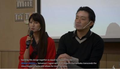 「緊縛新浪潮」京都大學講座,模特兒Aimi倒吊飛高高!