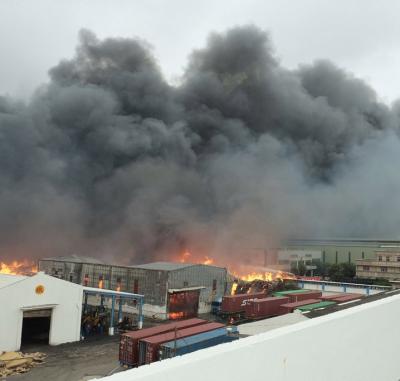 「旭富製藥工廠火警」延燒鄰近5公司,事故原因待查?