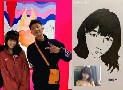 「小鬼 峮峮」2月畫展就曝戀愛線索,峮峮淚秀男友親筆肖像畫