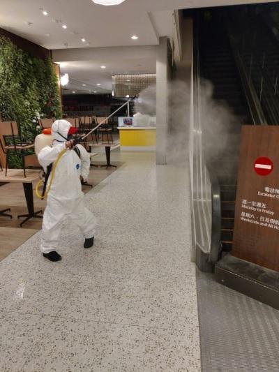 「101大樓消毒」武漢肺炎辦公室緊急處理中