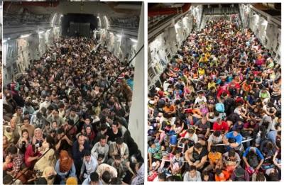 「美軍撤僑胞」阿富汗總統外逃一夕變天,C—17運輸機載滿滿人群
