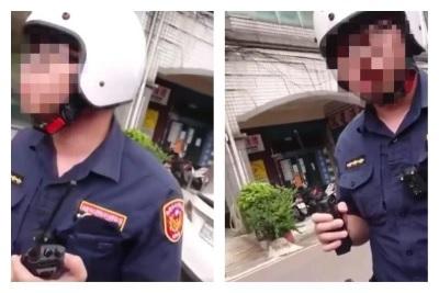 「莊姓員警」台灣歷史上第一位有牌警察,行車糾紛壓到員警腳遭告