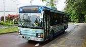 乗り物:Bus 乗り場, 野草園, 仙台市, 宮城県. 2014/05/22.