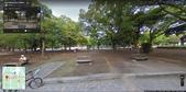 広島:原爆供養塔の真東 (西向). 平和記念公園. 2010/08.