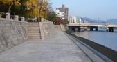 広島:元安川 西岸 (北向). 平和記念公園. 2011/11/30.