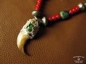 NAVAJO銀飾:雙葉熊爪鹿皮項鍊-5.jpg