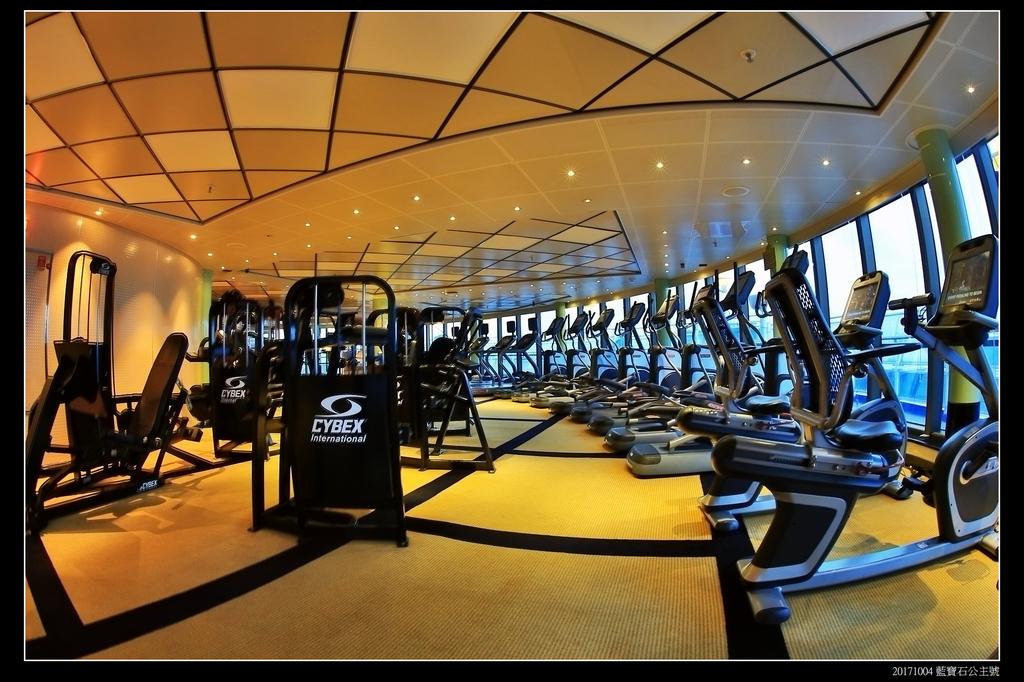 (藍寶石公主號 ):郵輪健身房