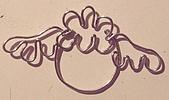 手工藝品:今天2006-02-13早上用鐵絲繞的happy berry 標誌
