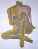 畫作~♡:2005暑假畫畫課畫的真人裸體