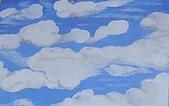 畫作~♡:在家裡自己畫的天空♡